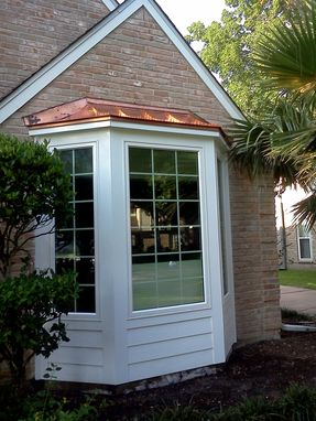 Custom Made Copper Bay Window Roofs