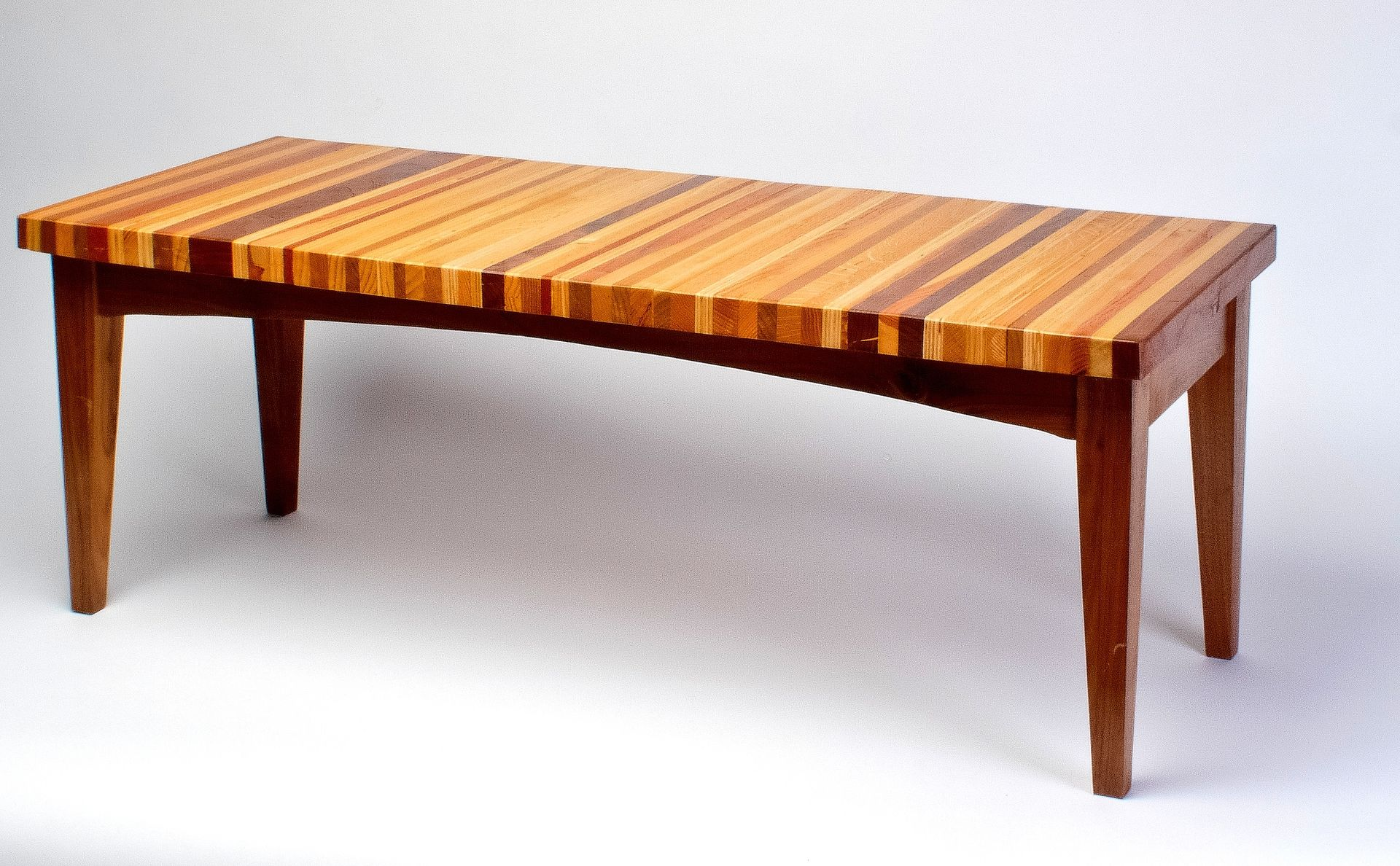 Hand Made Laminated Wood Coffee Table By Uncommon Woodworks