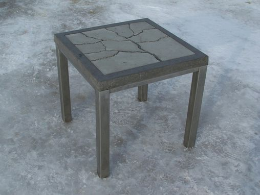 "Custom Made ""Fragmented Tree"" Concrete Table"