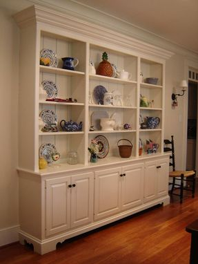 Custom Made Hutch In Painted Wood