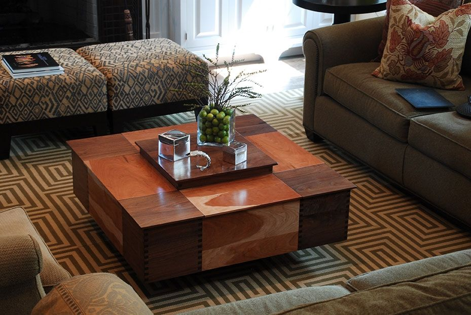 Hand Made Cherry And Walnut Coffee Table With Storage By Jg Custom Design Custommade Com
