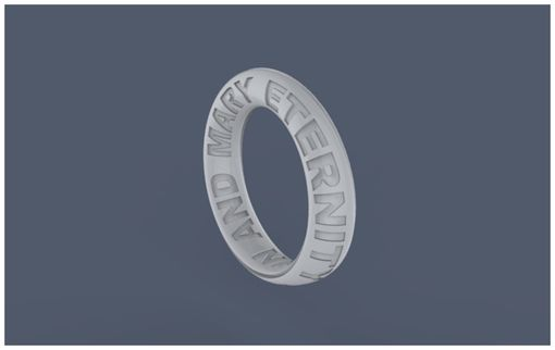 Custom Made Eternity Wedding Band