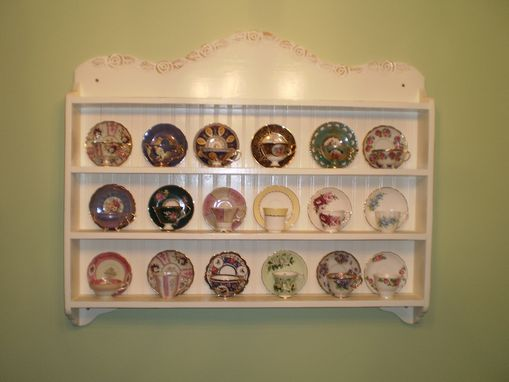 Custom Made Vanessa Tea Cup Shelf, Collectors Edition