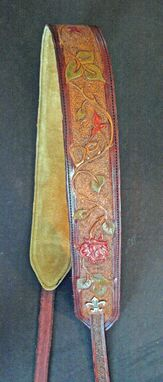 Custom Made Handtooled Lady's Banjo Strap