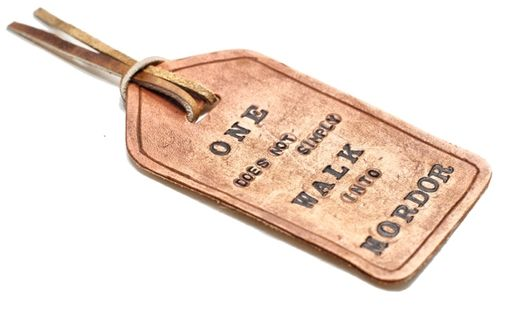 Custom Made Leather Bookmark Fob Tag – J.R.R. Tolkien – Lord Of The Rings Quote