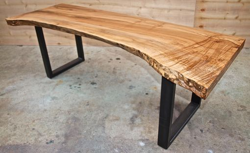 Custom Made Live Edge Maple Bench