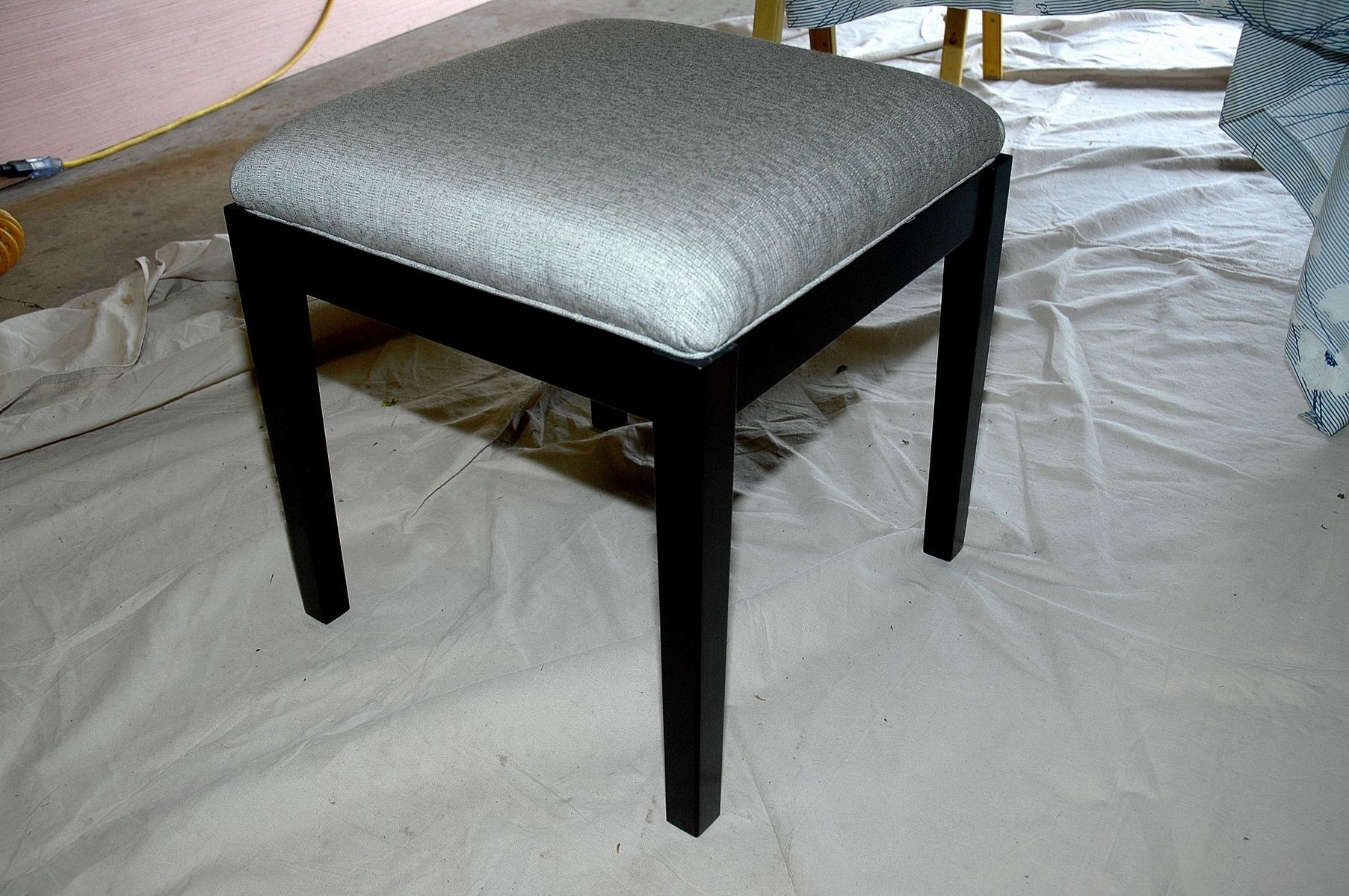 Custom Upholstered Vanity Stool By Wooden It Be Nice