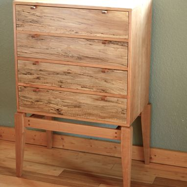 Custom Made Mid Century Modern Chest Of Drawers