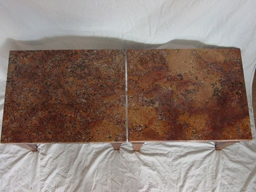 Custom Made Granite Top Coffee Table
