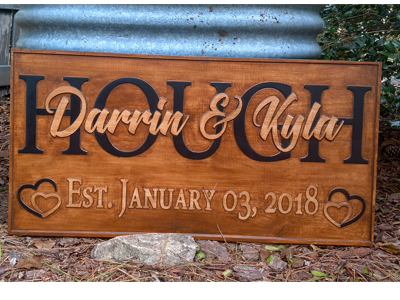 Custom Made Multi Board Carved Signs