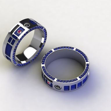 Custom Made Droid Head Band R2 Inspired- Gents