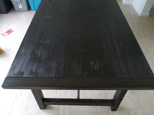 Custom Made Modern Black Turnbuckle Table