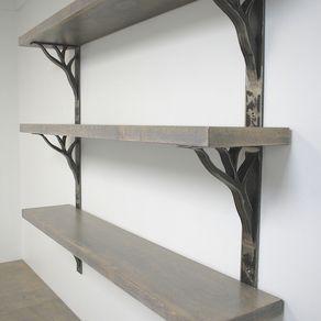 Iron Linear Shelf Brackets