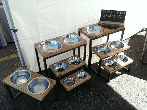 Custom Made Raised Dog Food Bowls / Raised Dog Feeders