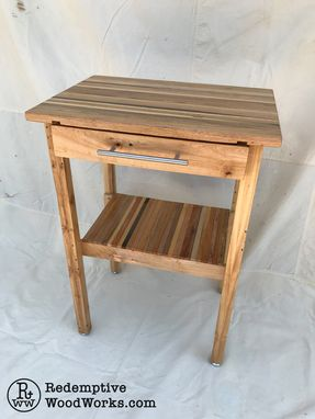 Custom Made Kitchen Island From Reclaimed Wood