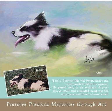 Custom Made Custom Pet Portrait On Canvas-0.75