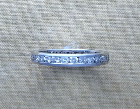 Custom Made Diamond Eternity Wedding Band - Channel Set Round Diamonds - 3mm Band - Choose Options