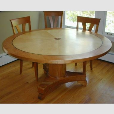Custom Made Cherry/Maple Veneered Dining Table