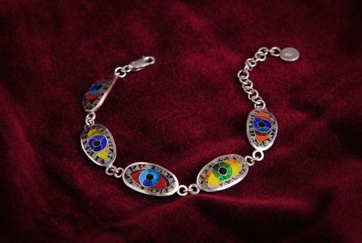 Custom Made Evil Eye Link Bracelet