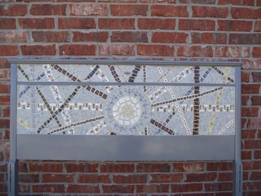 Hand Crafted Broken China Mosaic Headboard By Vintage