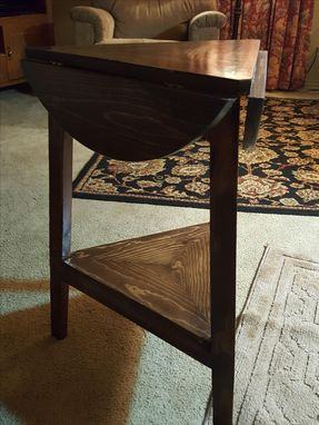 Custom Made Cricket Drop Leaf Side Table With A Twist