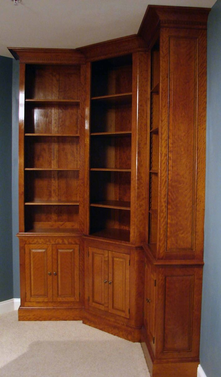 Custom Curly Cherry Bookcases By C W  Robertson