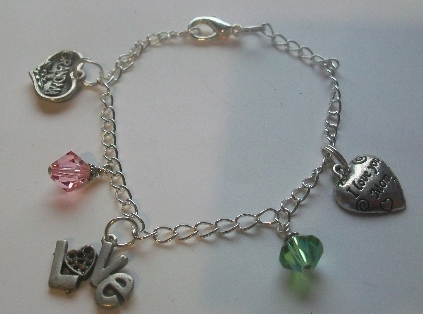 Handmade Charm Bracelet Birthstones By Eclectic