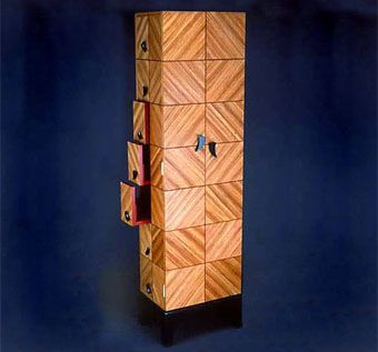 Custom Made Zebrawood And Padauk Cabinet