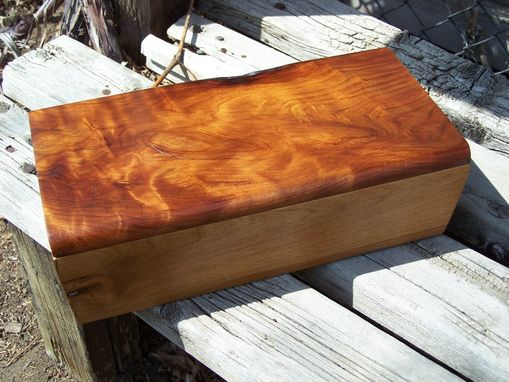 Custom Made Curly Redwood & Myrtlewood Jewelry Box