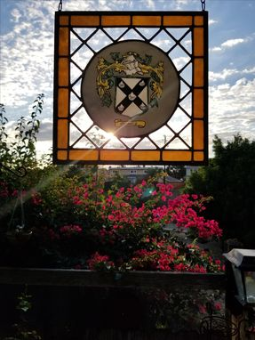 Custom Made Stained Glass Crest Window