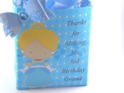 Custom Made Cinderella Treat Bags For Birthday Set Of 10