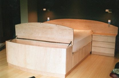 Custom Made Maple Platform Bed
