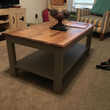 Hand Crafted 2 X4 Coffee Table With Reclaimed Tongue And