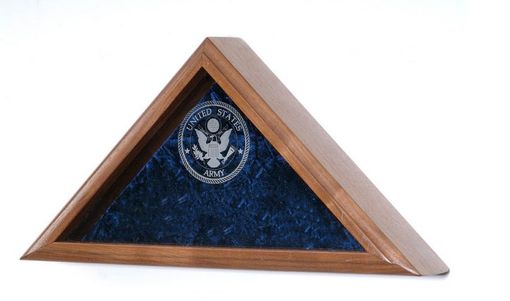 Custom Made Glass Laser Engraved Flag Display Case