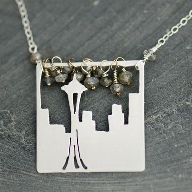 Custom Made Seattle Space Needle Necklace