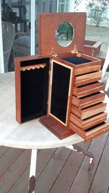 Custom Made Jewelry Box, 6 Drawer
