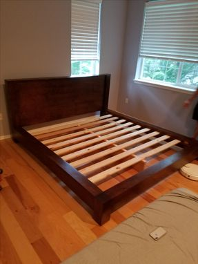 Custom Made Queen Modern Platform Bed