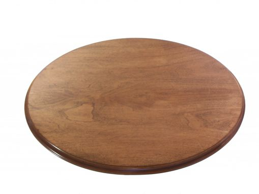Custom Made Oval Book Matched Maple Accent Table No.104 With Three Legs