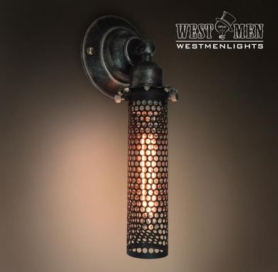 Custom Made Westmenlight Industrial Wrought Iron Wall Sconce Lamp Art Deco Light Black