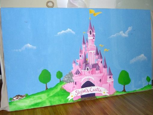 Custom Made Princess Birthday Party Mural