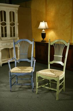Custom Made Coastal Fan Chairs In 2 Color