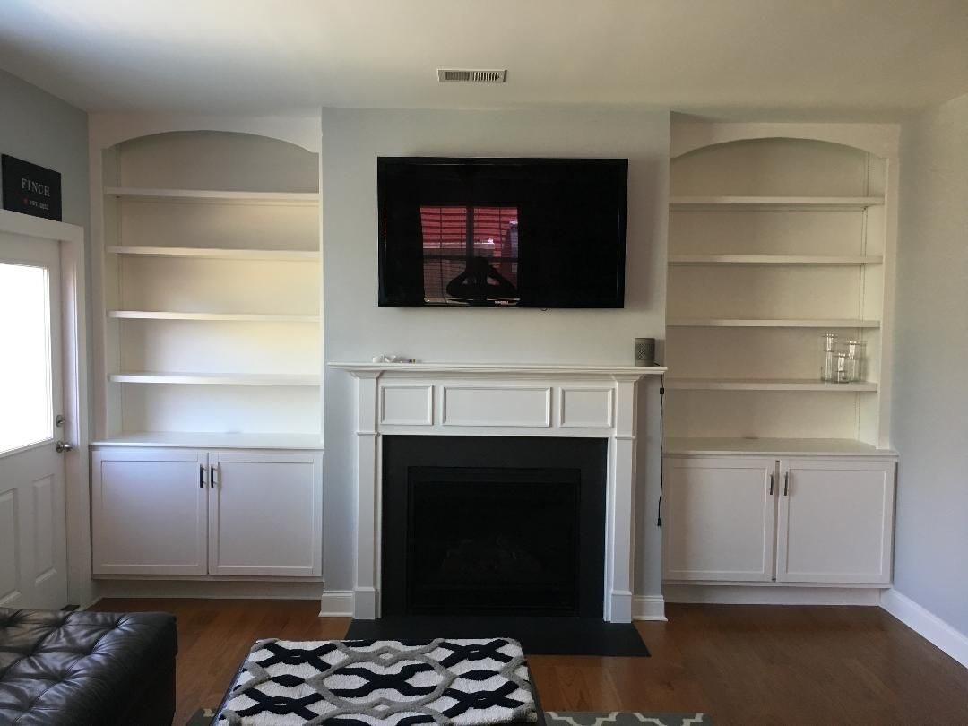 Custom Made Built In Fireplace Cabinets Amp Shelving By The
