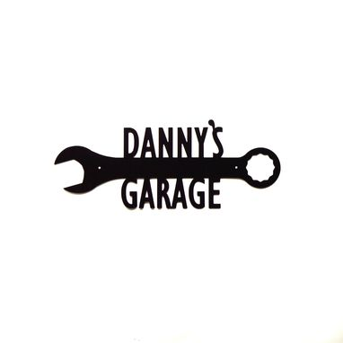 Custom Made Personalized Wrench Metal Art Garage Sign
