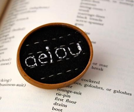 Custom Made Aeiou Brooch