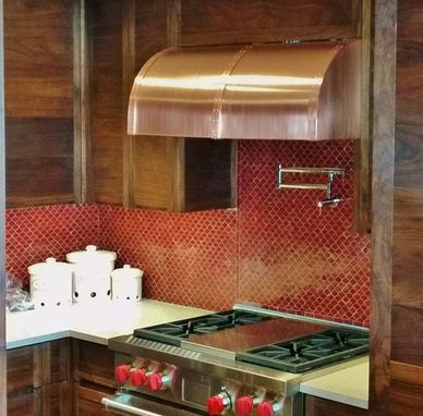Custom Made Copper Range Hood
