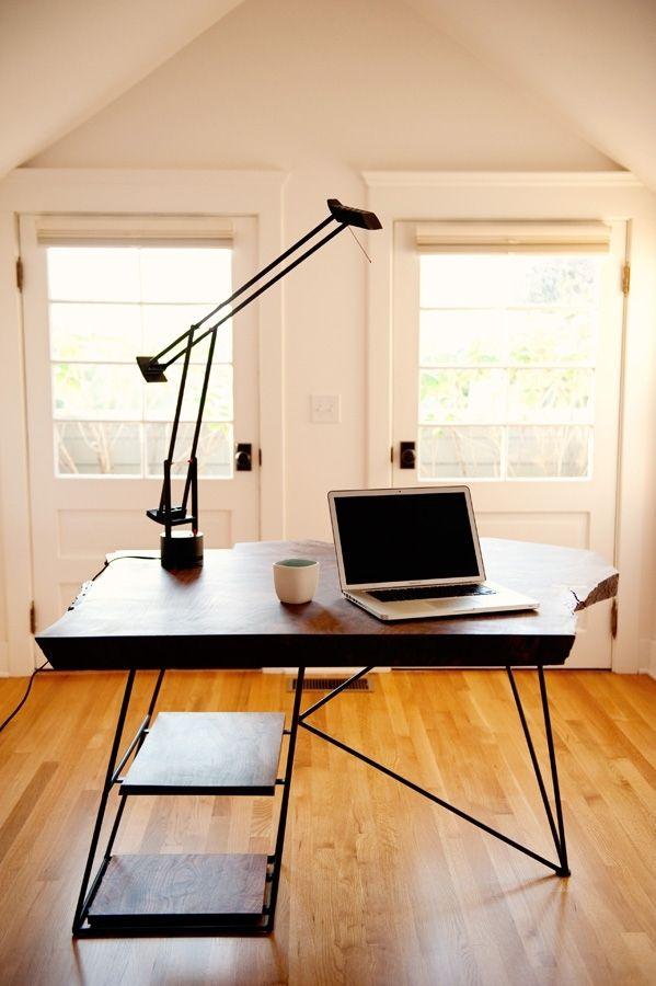 Modern Walnut Living Room Furniture: Custom Live Edge Modern Walnut Desk By Taylor Donsker