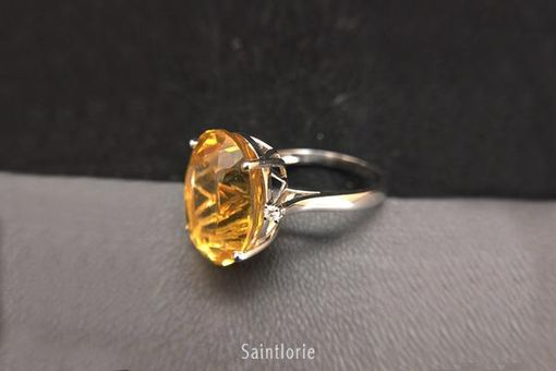 Custom Made 18 Carat Citrine Ring