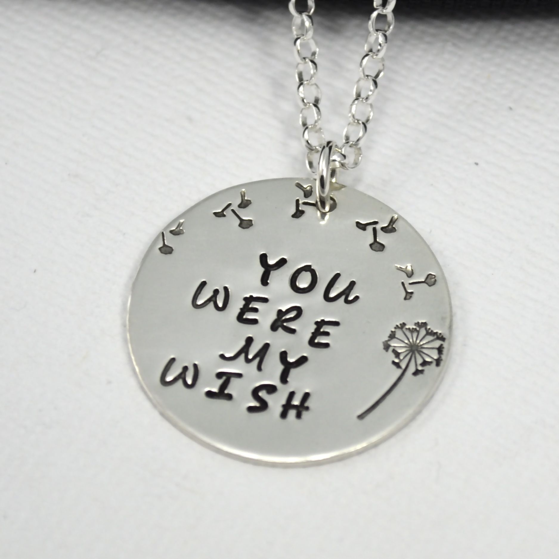 Buy A Hand Made You Were My Wish Dandelion Hand Stamped