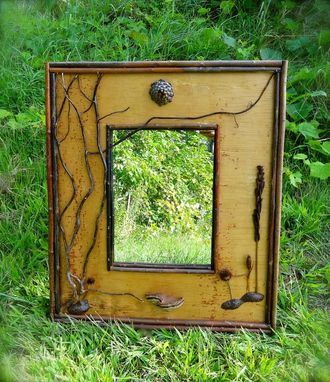 Custom Made Rustic Birch Mirror Frame