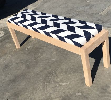 Custom Made Solid White Oak Bench